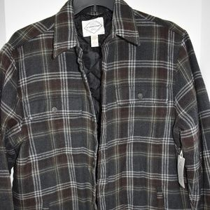 St Johns Bay Mens Quilted Flannel Shirt Jacket New